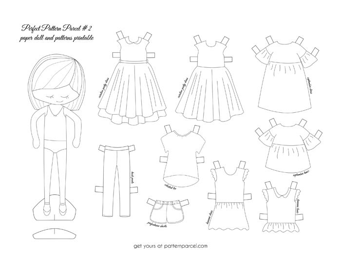 It's just an image of Printable Doll with regard to dress up