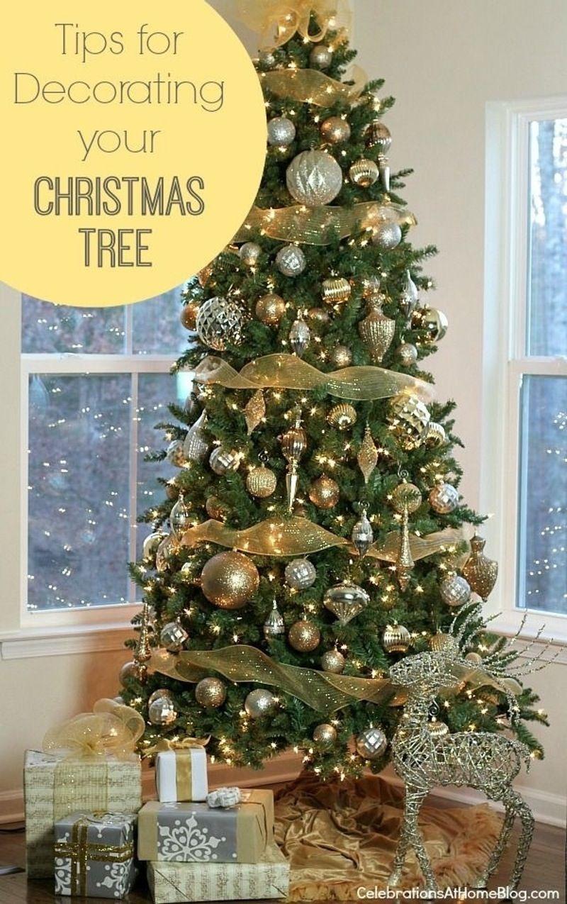 Single Color Scheme Simple Christmas Tree Gold Christmas Tree Christmas Tree Decorations