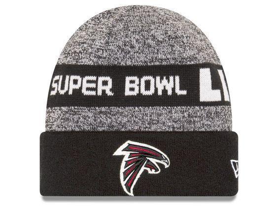 d40685acb40 Atlanta  Falcons  New  Era  NFL  Football  Super  Bowl  LI  Cuffed  Knit   Cap  Beanie  Hat