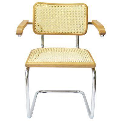 Breuer Chair Company Cesca Arm Chair Finish: Honey Oak
