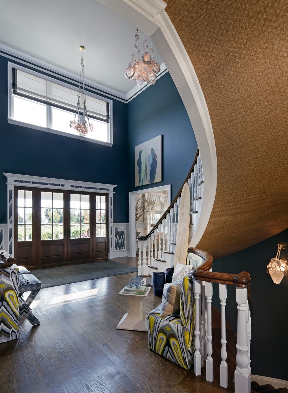Entry Of A Designer Show House In Watermill Ny By Haus Interiors