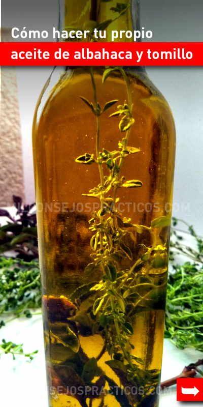 Cómo Hacer Tu Propio Aceite De Albahaca Y Tomillo Tomillo Albahaca Aceitedeoliva Aromatico Casero How To Make Oil Seasoning Recipes Infused Olive Oil