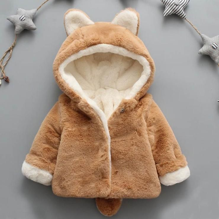 f0d24d143 Super Soft & Warm Organic Cotton Baby & Toddler Hooded Fox Coat (5 Months -  3 Years Old)