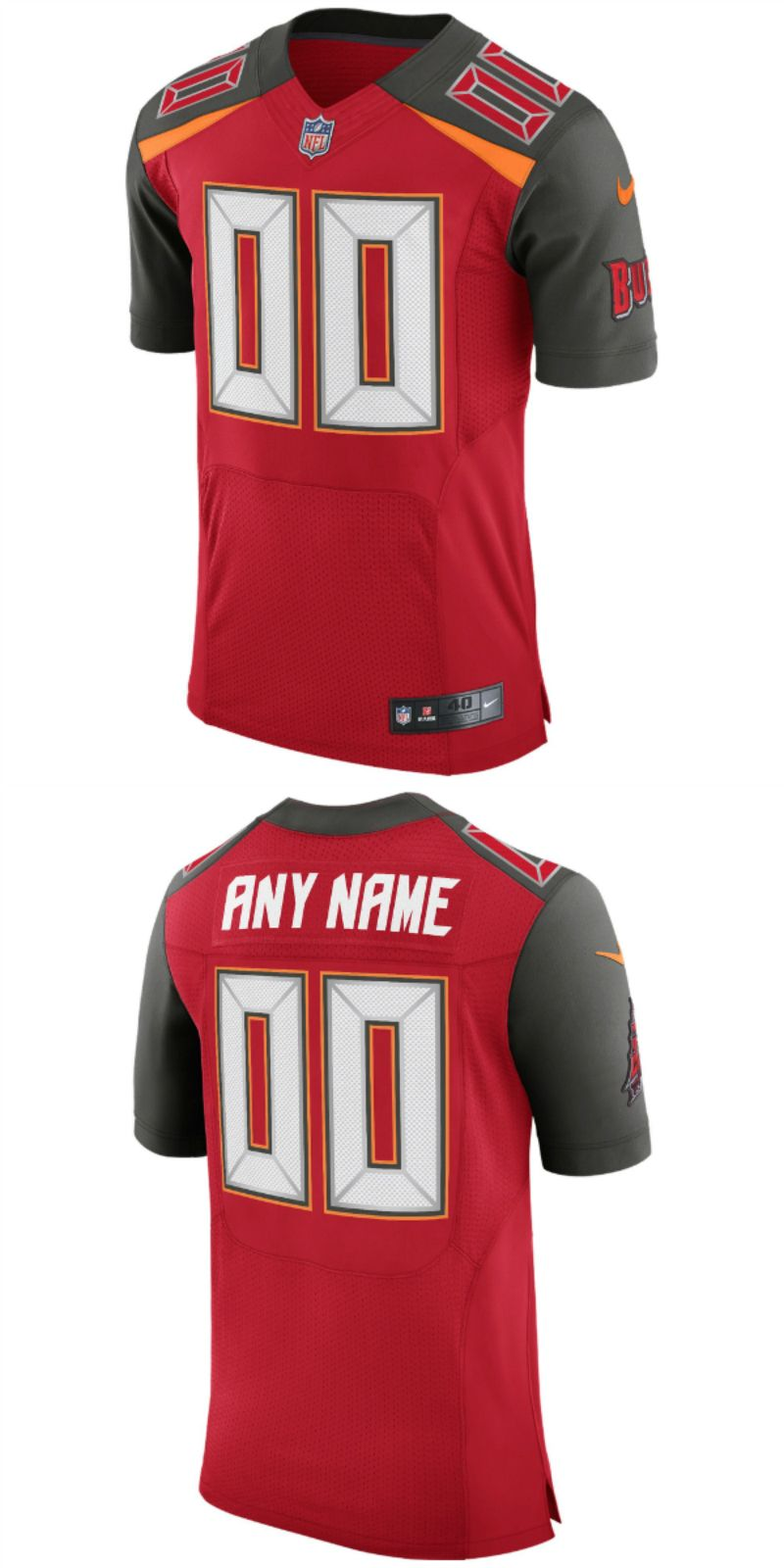 online store a0f76 eb2fe Tampa Bay Buccaneers William Gholston NFL Pro Line Red Team ...