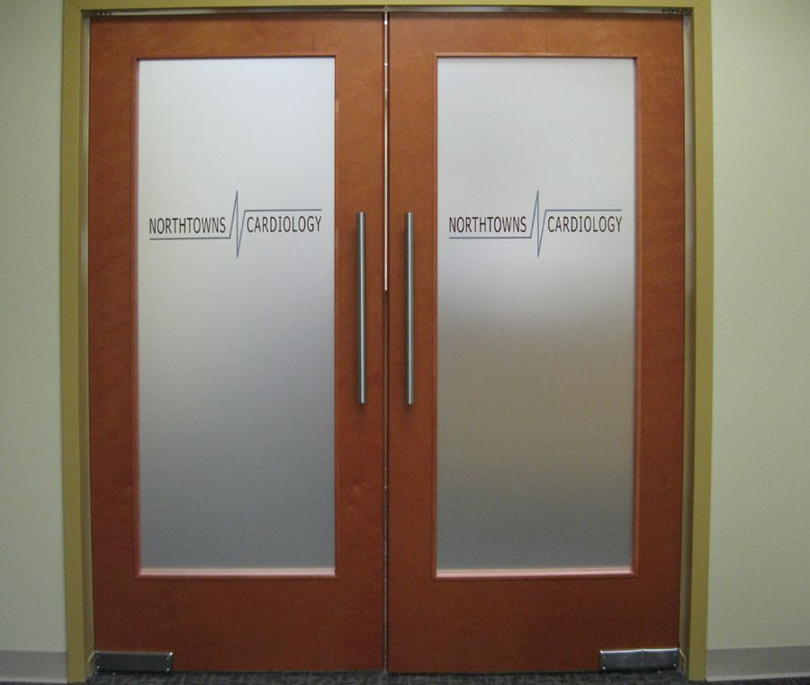 Interior Office Doors With Glass Frosted Etched Glass Vinyl Office