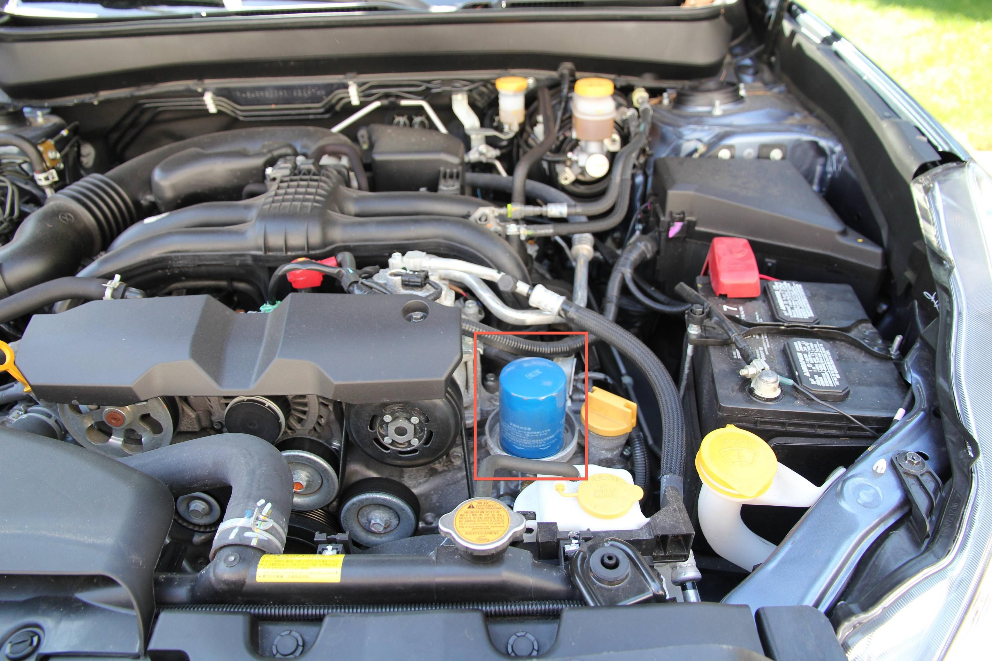 How to change the oil and filter on a Gen 4, B series, 2.5 liter subaru  outback