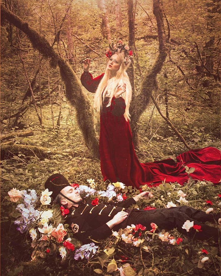Fairy Folk Art Olga Valeska Olga Valeska Photos Et Videos Instagram Girl Cool Girl Red Formal Dress