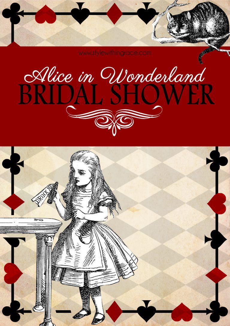 Alice in Wonderland Bridal Shower   Alice in wonderland   Pinterest ...