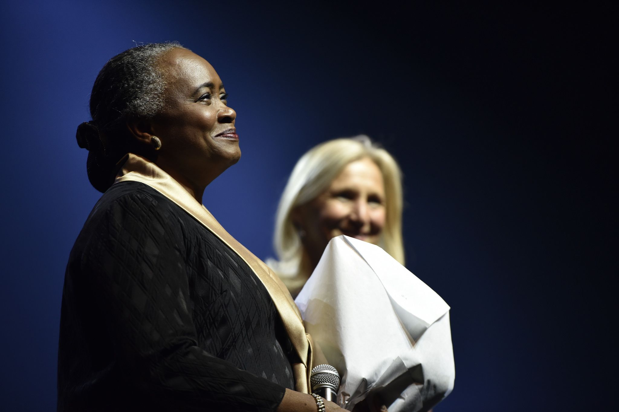 Barbara Hendricks And Clara Gaymard On Stage