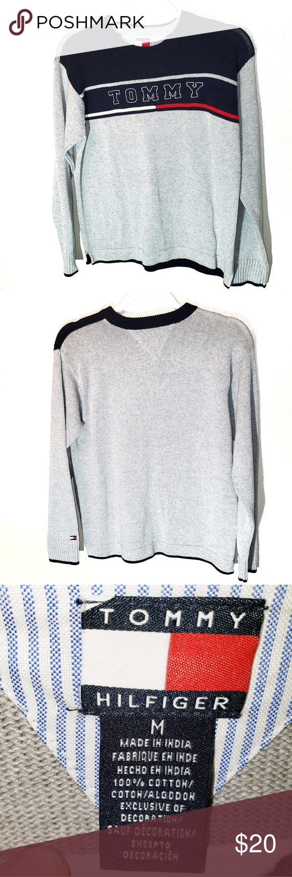 Tommy Hilfiger Tommy Logo Crewneck Sweater Tommy Hilfiger Tommy Logo Crewneck Sweater Size Medium C21 Tommy Tommy Hilfiger Crew Neck Sweater Fashion [ 1740 x 580 Pixel ]