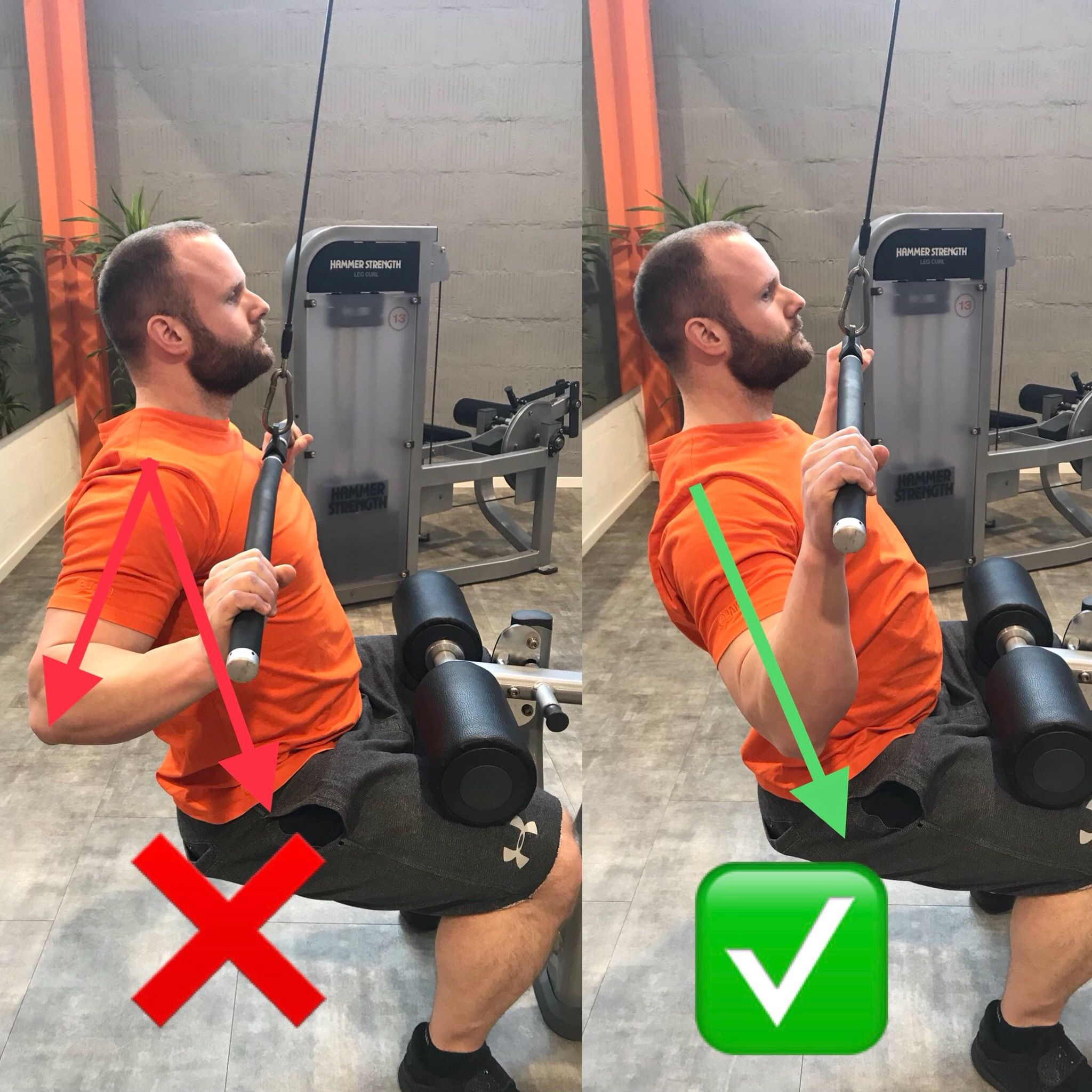 Photo of Technique check: lat pulldown