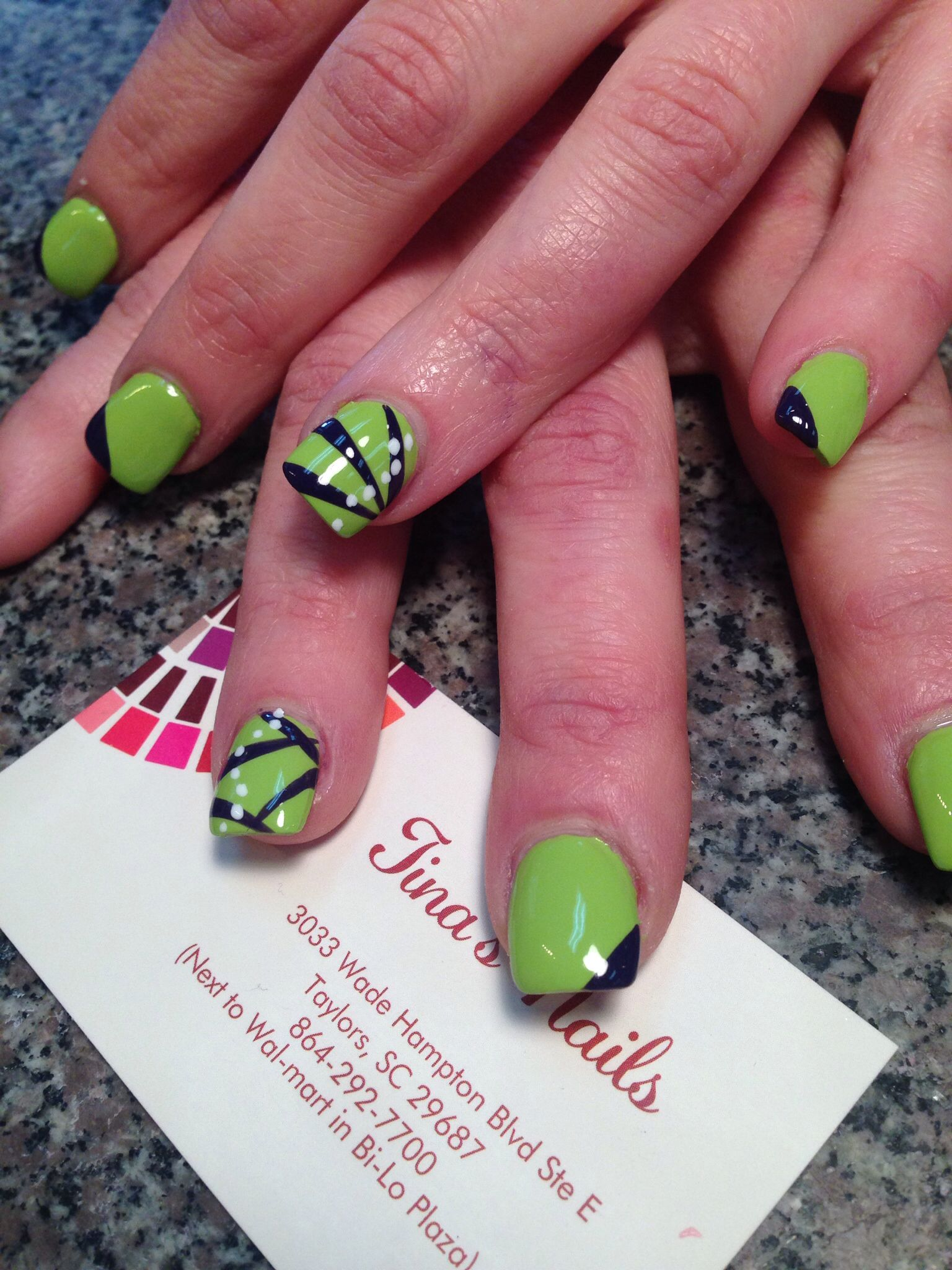 Nail Art Nail Designs Free Hand 3d Art Tinas Nails Designs From
