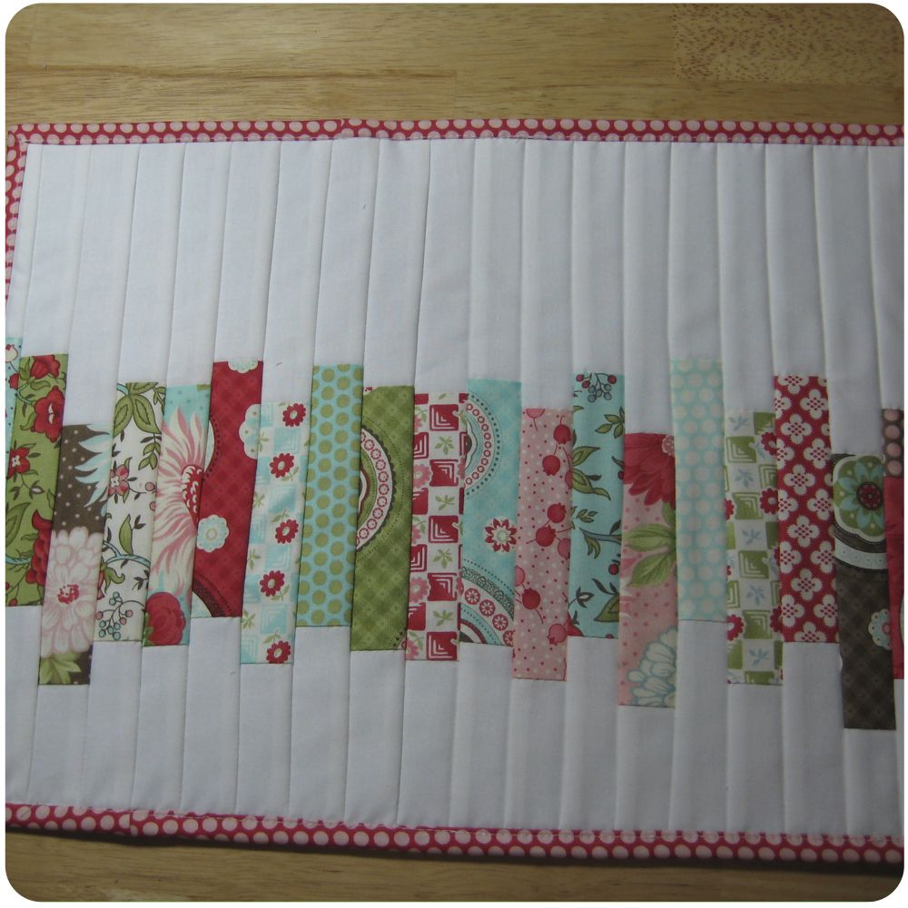 The Busy Bean Tutorial Quilt As You Go Placemats Sewing