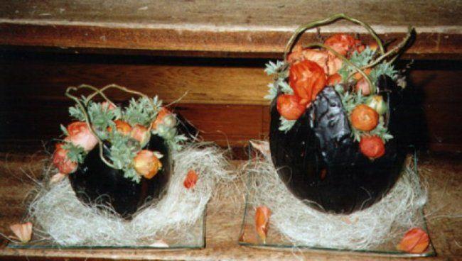 Eieren bekleed met kaarsvet  Bloemschikken -