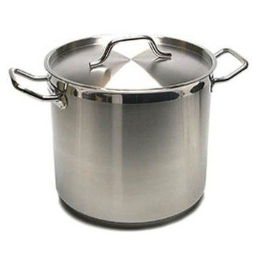 Amazon.com: New Professional Commercial Grade 20 QT (Quart) Heavy Gauge Stainless Steel Stock Pot, 3-Ply Clad Base, Induction Ready, With Lid Cover NSF Certified Item: Kitchen & Dining
