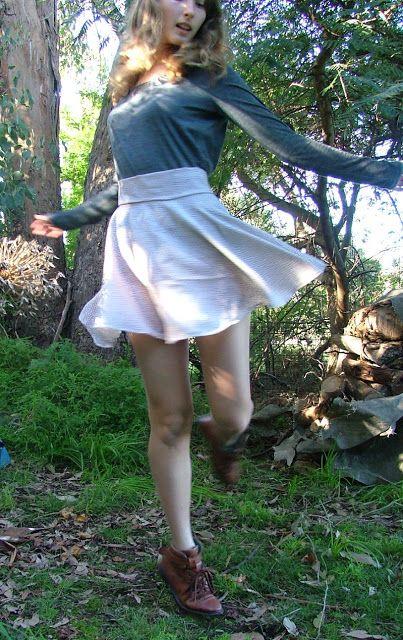 how to make a skater skirt.