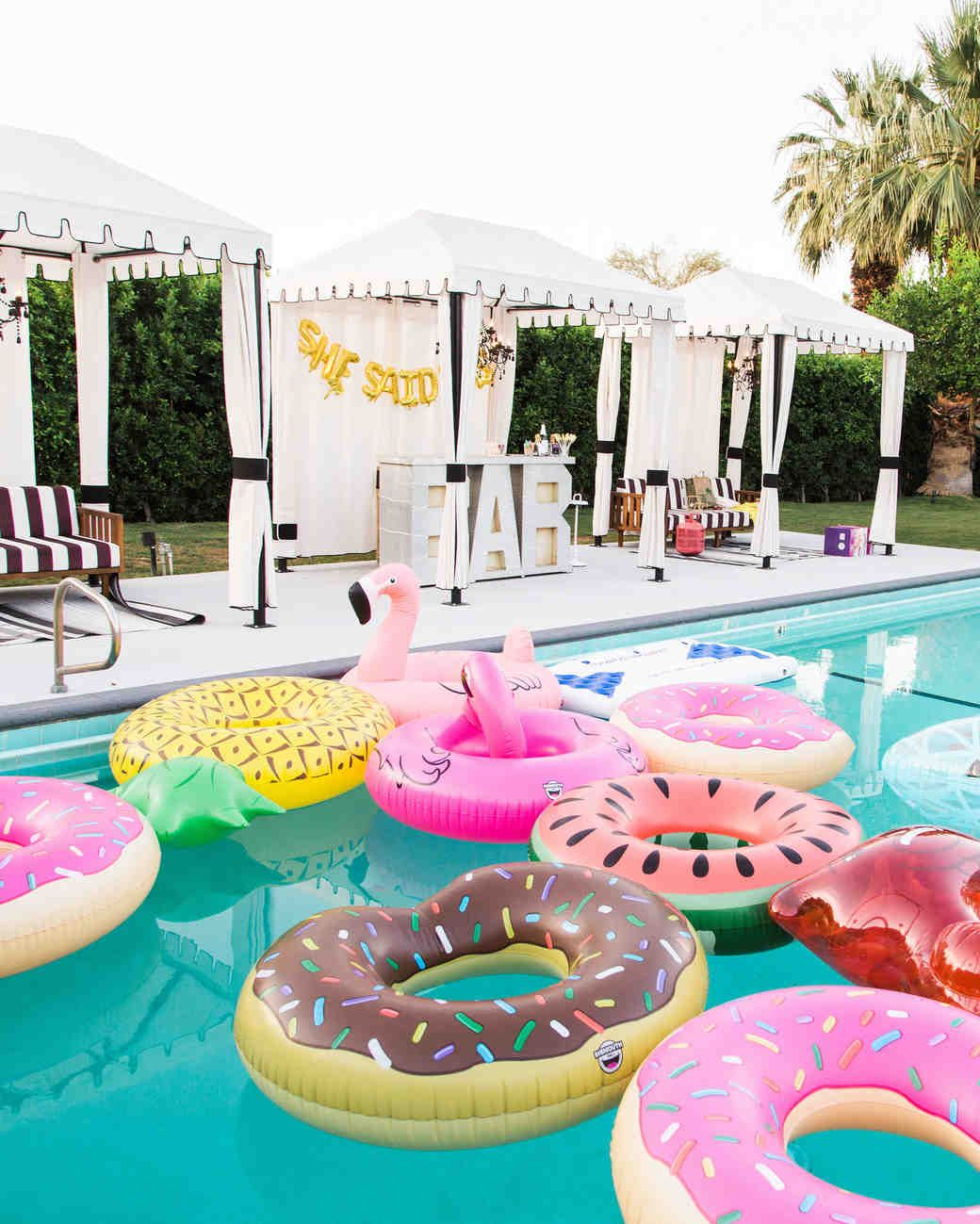 Creative Bachelorette Party Decoration Ideas Bachelorette Party Weekend Pool Birthday Party Summer Pool Party