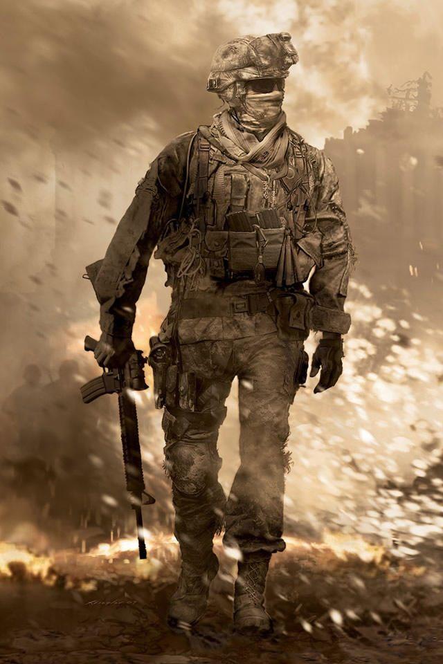Soldier In The War Iphone Wallpaper Jpg 640 960 Modern Warfare