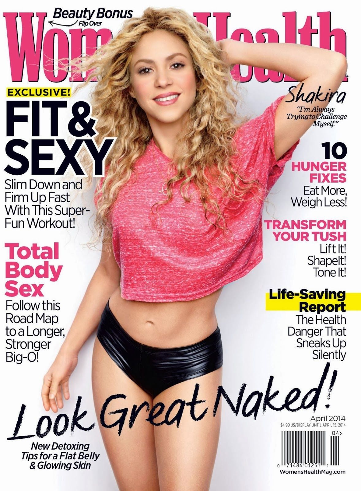Shakira - Women's Health Magazine Cover [United States] (April 2014)