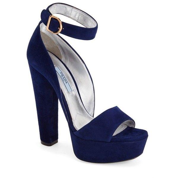 fea772e7845 Prada Chunky Heel Sandal (Women) ❤ liked on Polyvore featuring shoes
