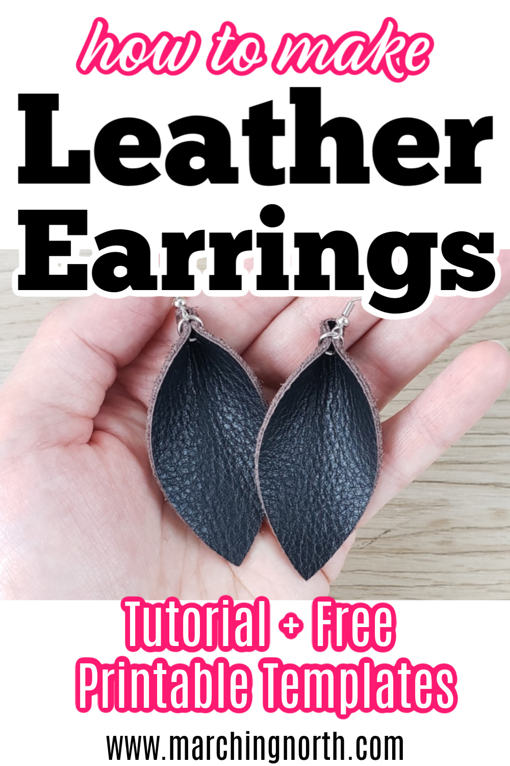 Photo of How to Make Leather Earrings | DIY Tutorial + Free Printable Templates! | Marching North