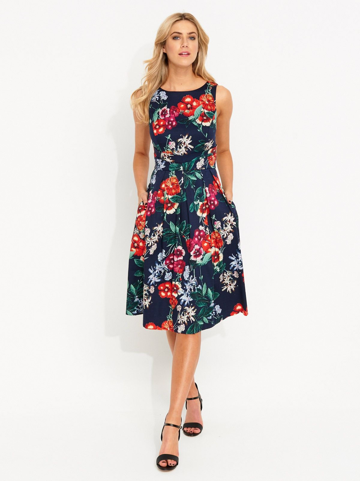Image for Meadow Garden Floral Poplin Dress from Portmans | Clothes ...