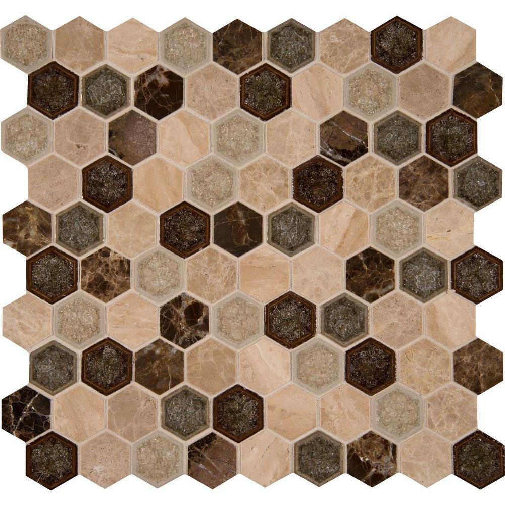 Msi Kensington Hexagon 12 In X