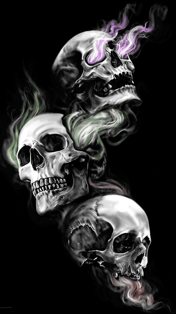 Three Skulls Best Cover Up Tattoos Cover Up Tattoo Evil Skull Tattoo