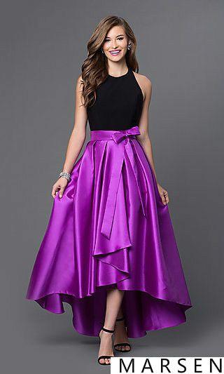 High Low Backless Lange Abendkleid 2016 Mode Asymmetrische Off ...