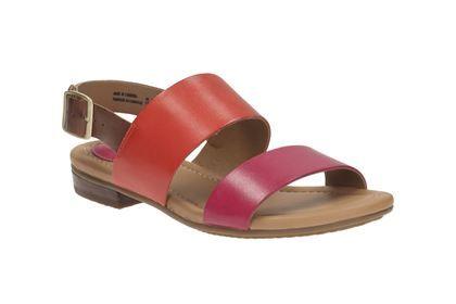 Aztek Fuchsia Womens Casual Clarks Viveca Sandals Leather rxsdChoQtB
