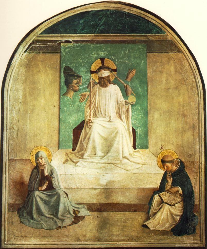 Las partes del cuerpo que flotan en El escarnio de Cristo hacen que casi parezca una pintura surrealista