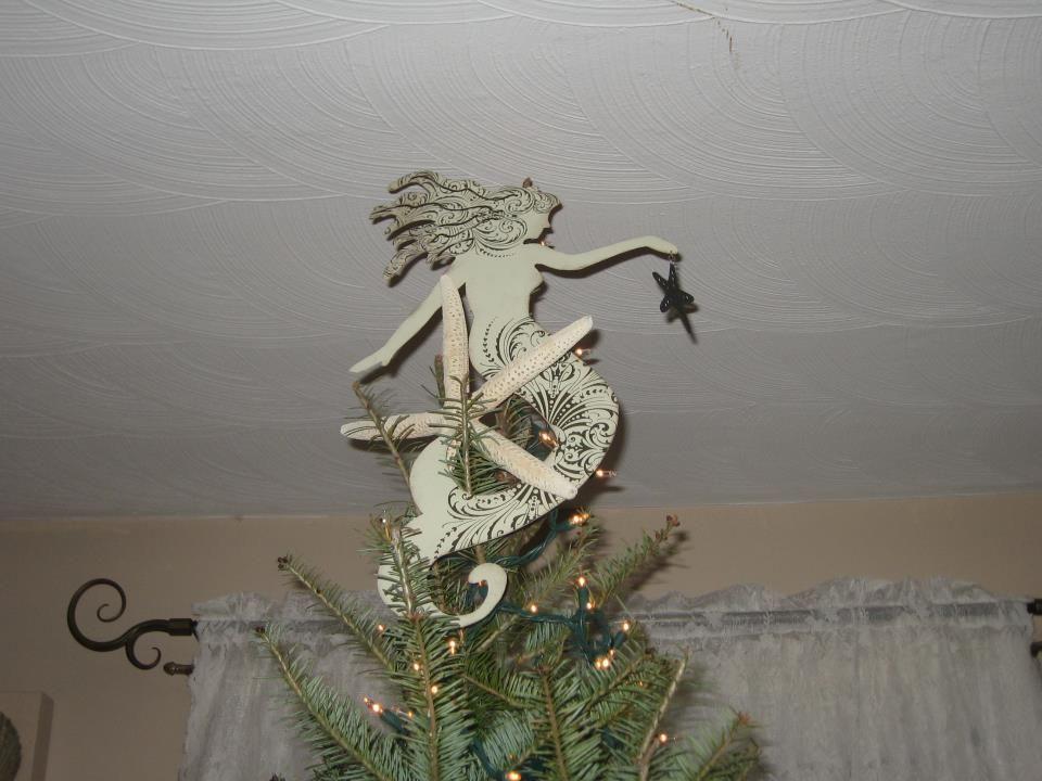 Mermaid tree topper...LOVE Beach Christmas Trees, Tropical Christmas, Christmas  Tree - Mermaid Tree Topper...LOVE Products I Love Pinterest Tree