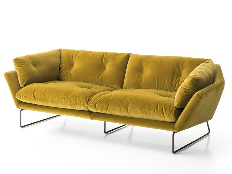 Ordinaire Sled Base 3 Seater Fabric Sofa NEW YORK SUITE | 3 Seater Sofa By Saba Italia