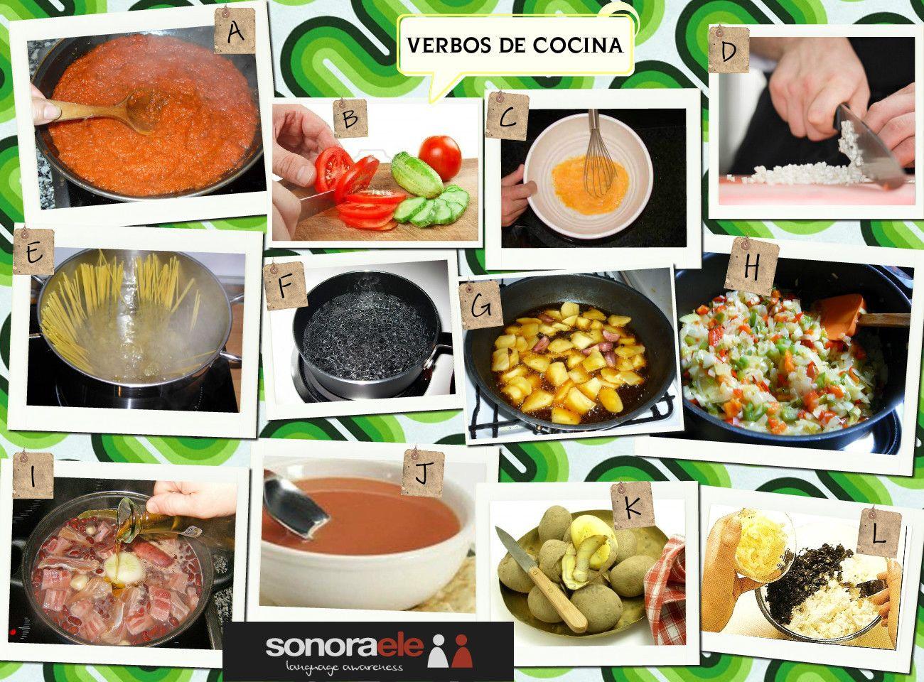 A2 b1 verbos de cocina descubre a qu imagen pertenecen for Cocinar para 9