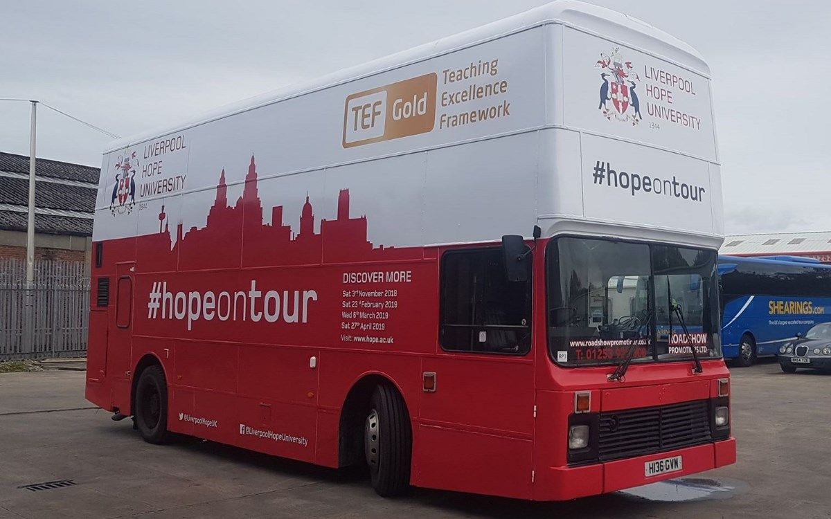 rsp our double decker promotional roadshow bus wrapped and