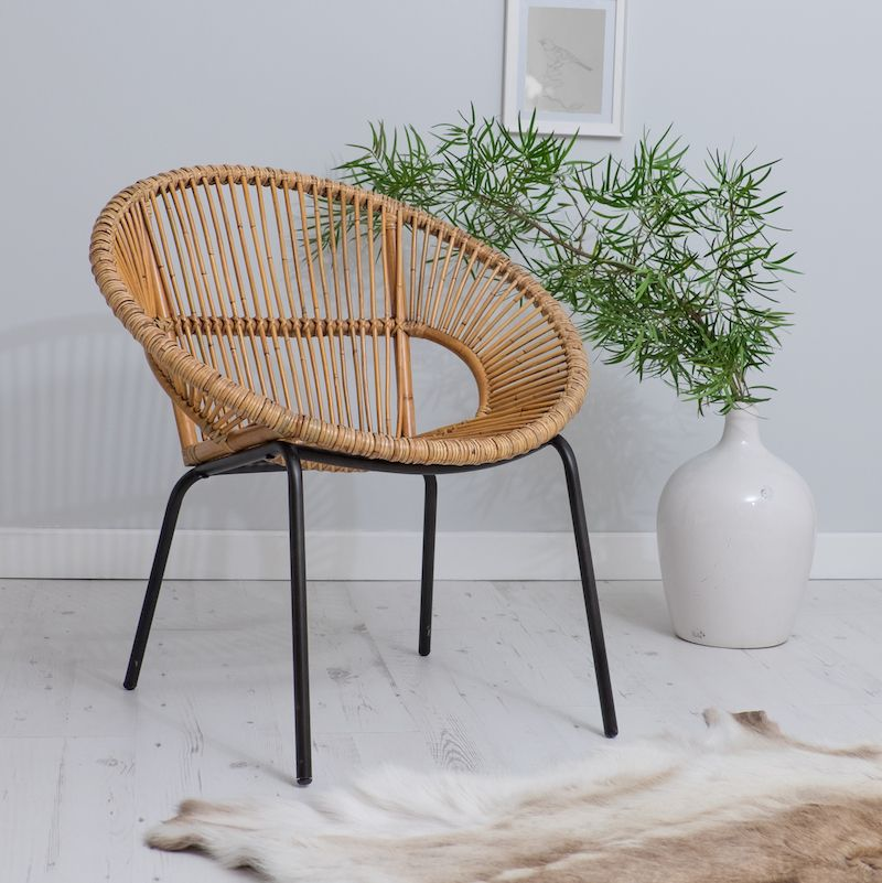 Are You Interested In Our White Tub Chair Bedroom Bamboo With Wicker Metal Legs Office Need Look No Further