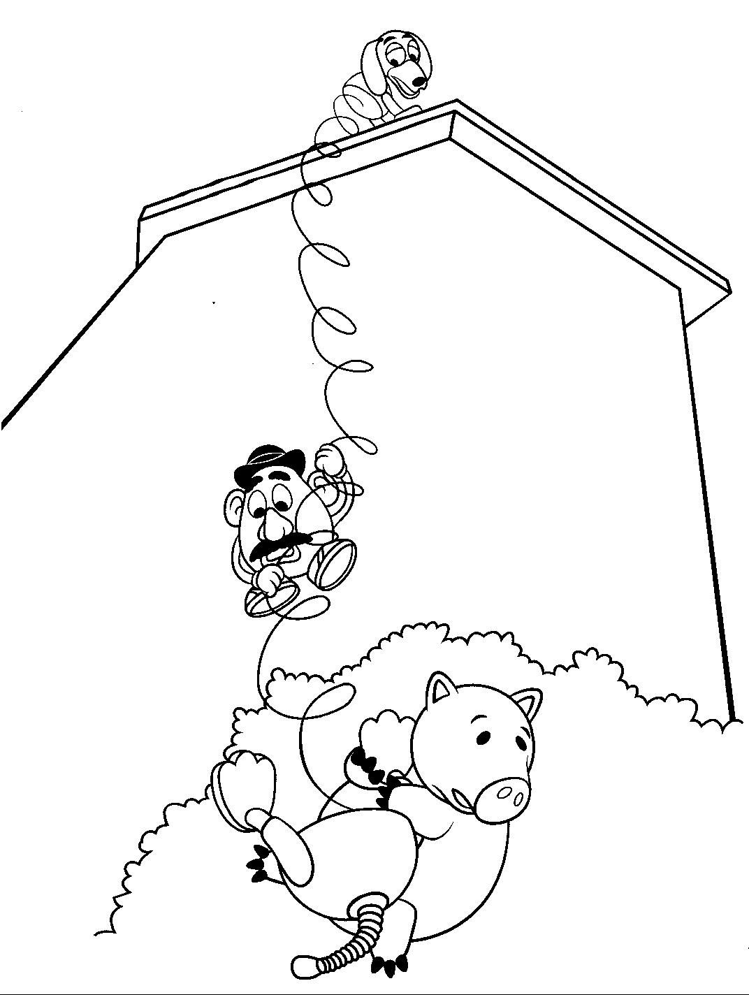 toy story coloring page disney トイストーリー pinterest