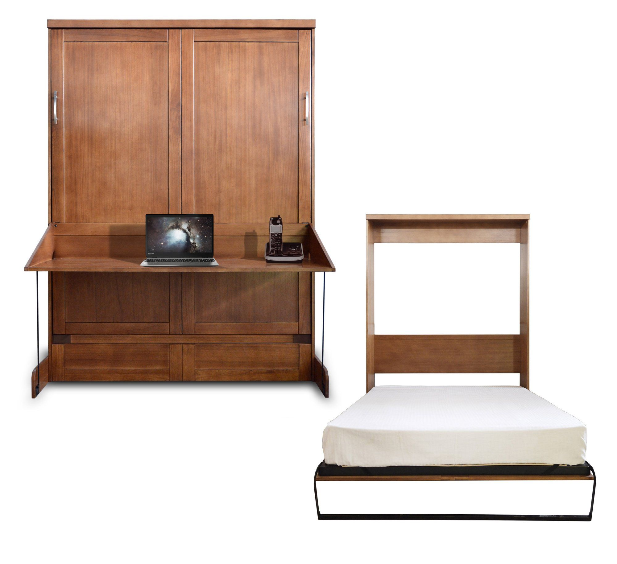 Loft bed with desk dresser  Factory Queen Size Murphy DeskBed Rough Tawney Finish  Products