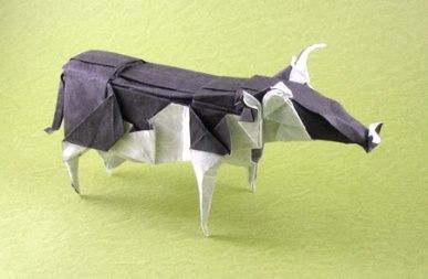 Easy Origami Cow