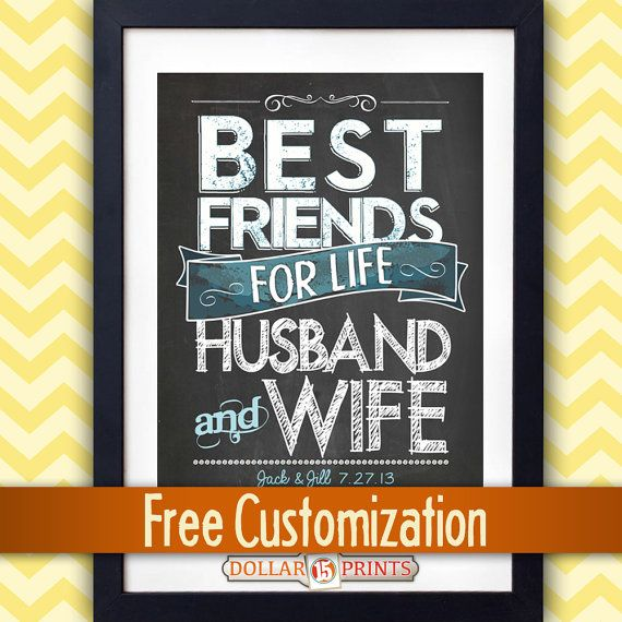 "Wedding Gifts Friends: This Would Be An AWESOME Wedding Gift! ""Best Friends For"
