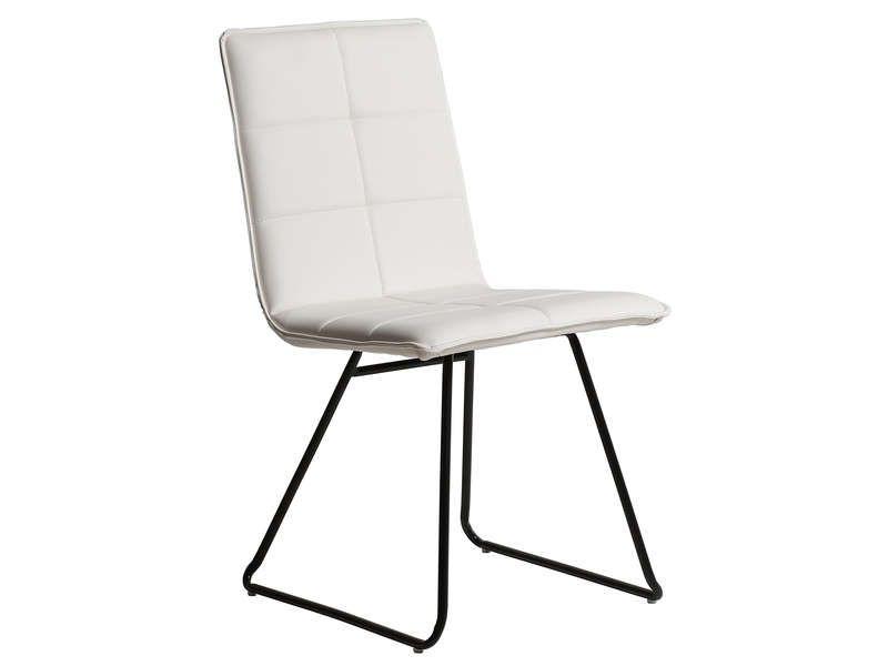Chaise Eva Coloris Blanc X2f Noir Pas Cher C 39 Est Sur Conforama Fr Large Choix Prix Discount Et Des Offres Exclusives Chaise Chaise Blanc Conforama
