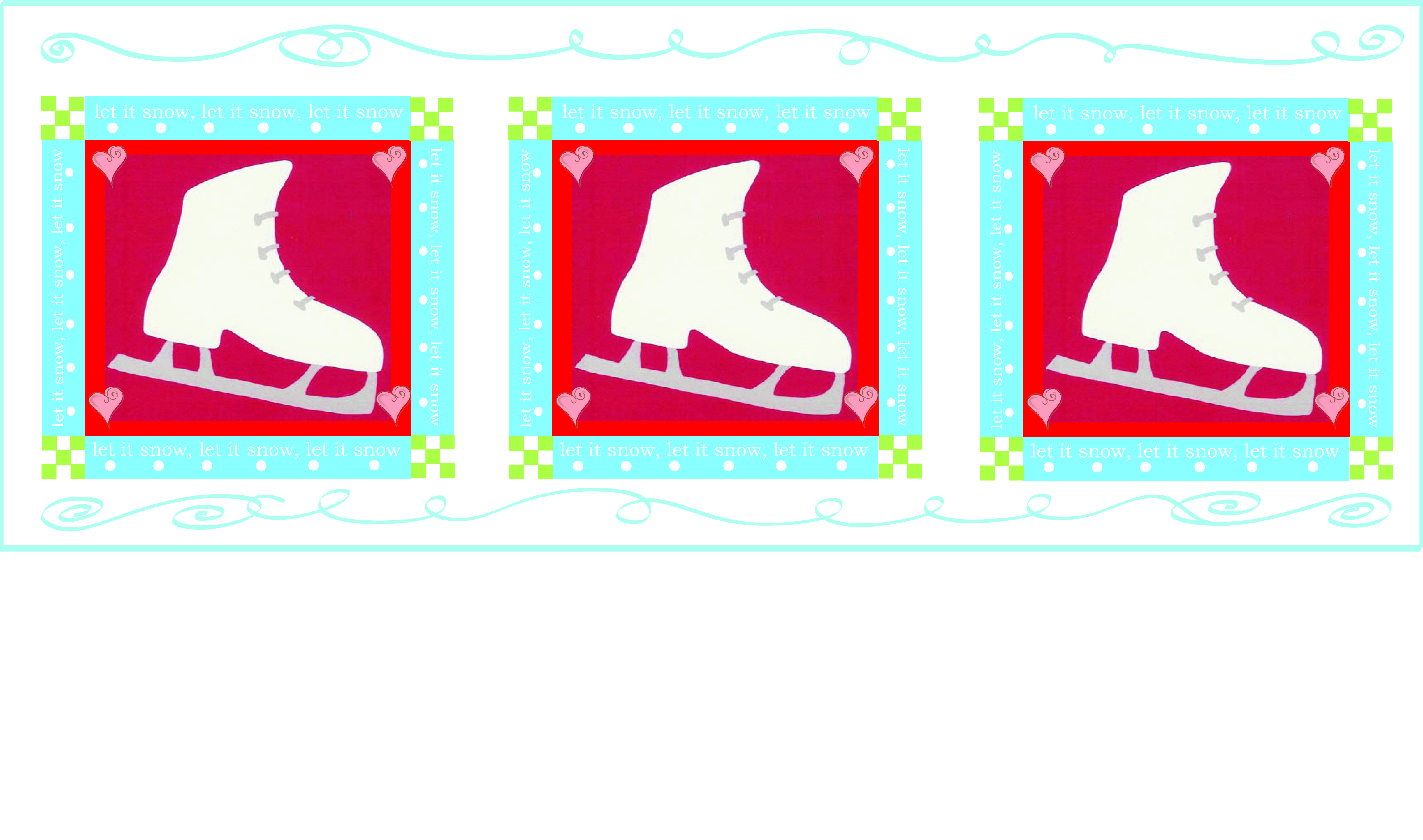 Let it Snow Ice Skates art available for licensing