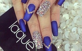 Unas Decoradas Color Azul Rey N A I L S Nails Nail Designs Y