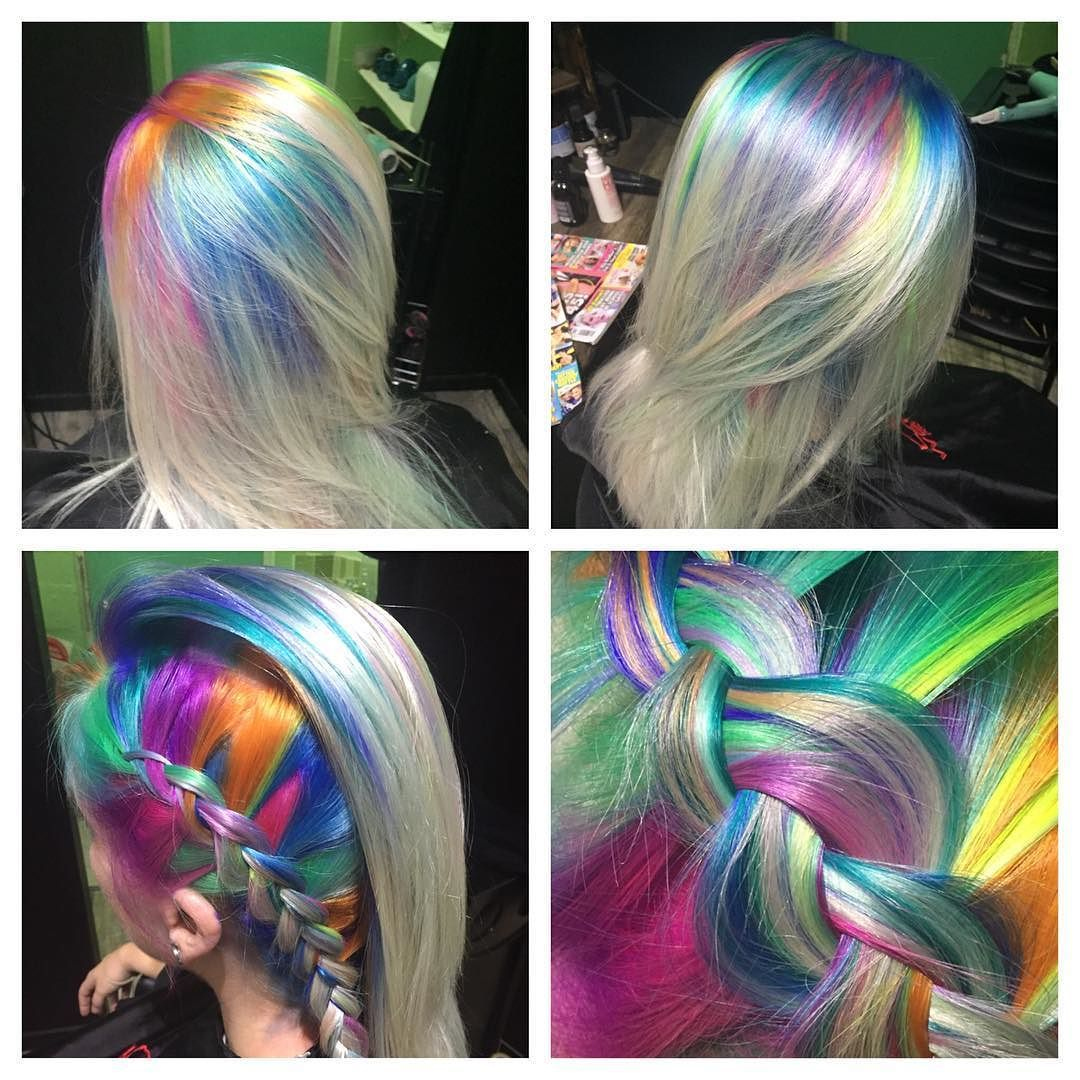 bright hair colors on pinterest bright hair rainbow hair and rainbow roots so many looks by laushairstylist you can