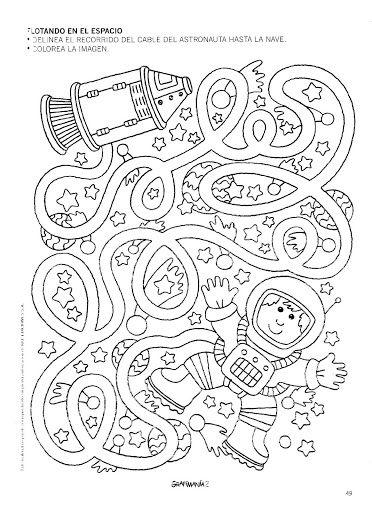 Picasa Web Albums Betiana 1 Grafimania 2 Space Crafts Space Preschool Maze Worksheet