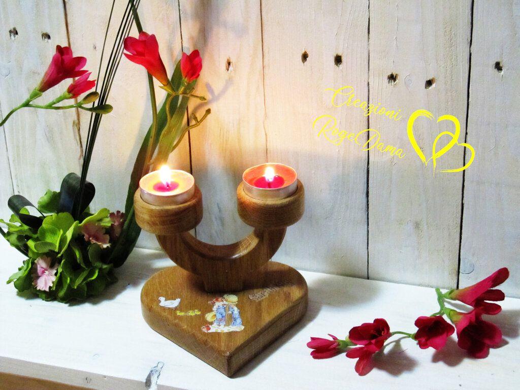 Photo of Porta  candele in legno