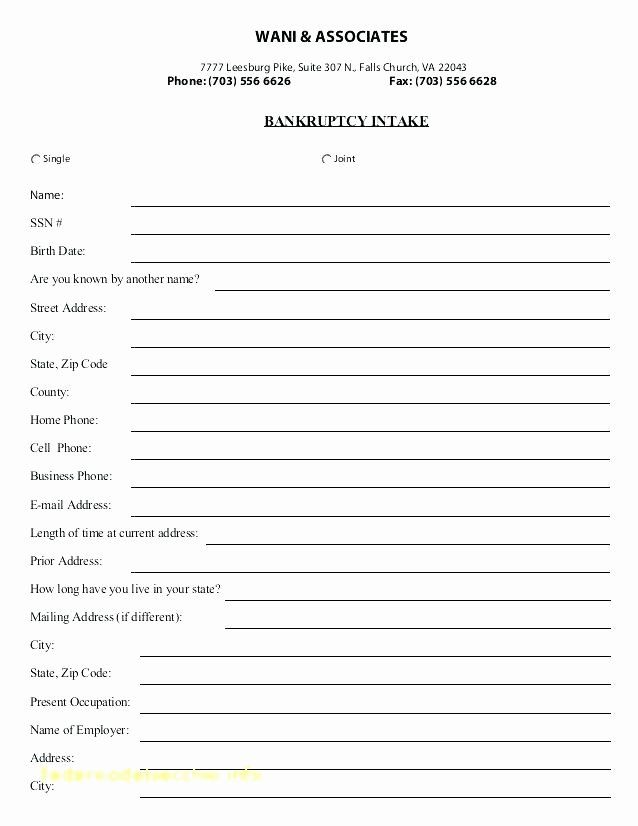 Awesome New Patient Intake form Template in 2020 | Word ...