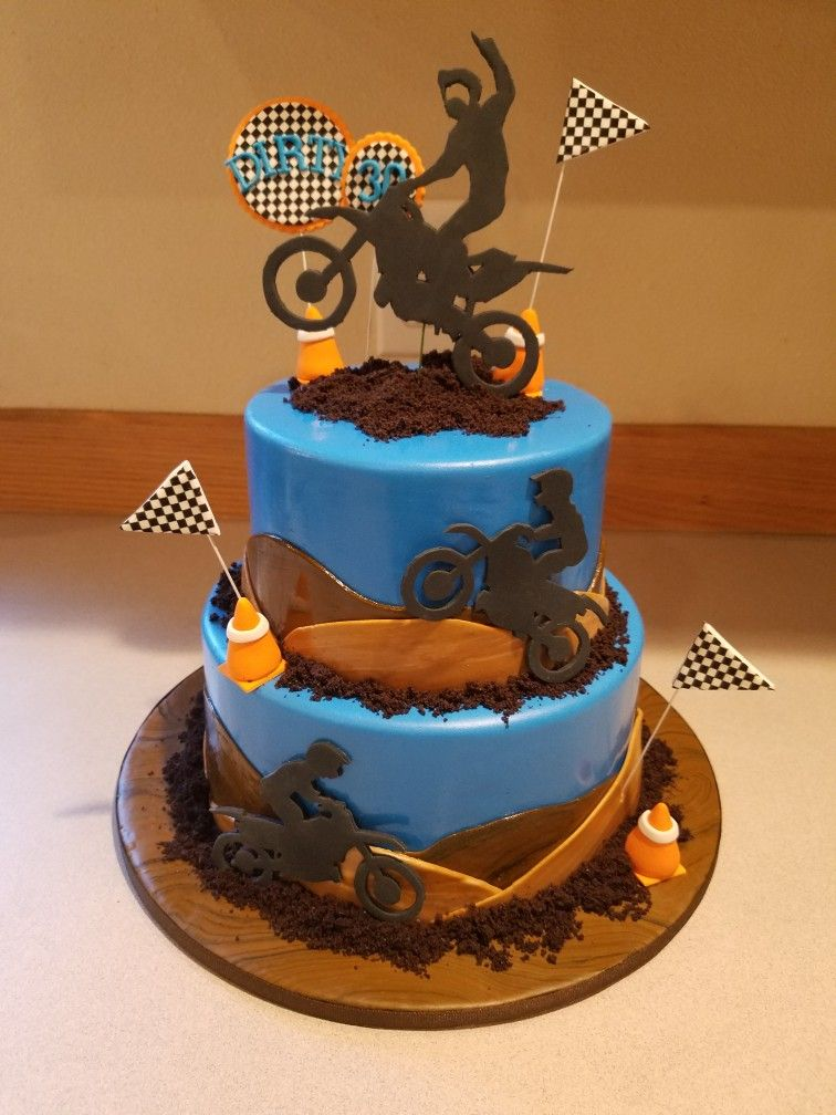 Guys Dirt Bike Cake Whimsy Cakes By Dee In 2019 Dirt