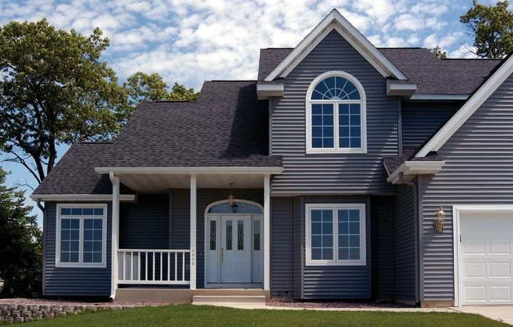 Dark Gray Siding Kaycan Has Taken Full Environmental