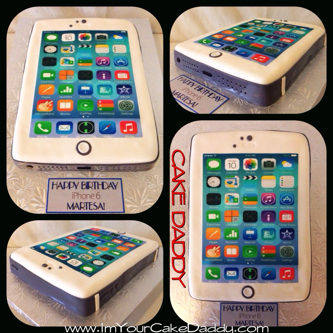 iPhone 6 birthday cake Custom Cakes by Cake Daddy Pinterest